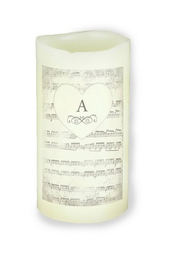 Personalised Vintage Manuscript LED Candle