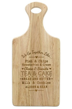 We Go Together Like Large Paddle Chopping Board