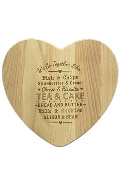 We Go Together Like Heart Chopping Board