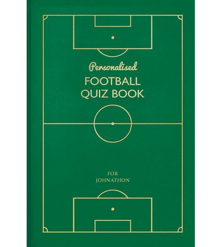 Image for Personalised Football Quiz Book from ace