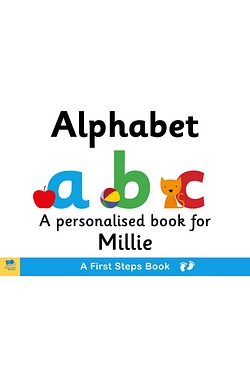 Personalised First Steps Alphabet Board Book for Toddlers