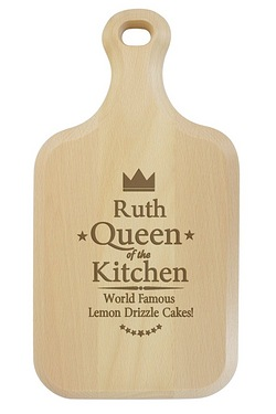 Queen of the Kitchen Personalised Large Paddle Chopping Board