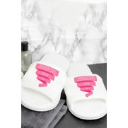 Personalised Pink Banner Velour Sli...