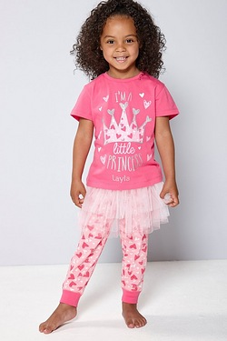 Girls Personalised Princess Tutu Pyjamas