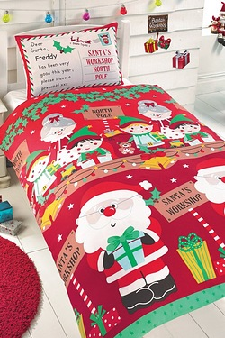 Personalised Santas Workshop Duvet ...