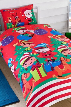Personalised Elf Party Duvet Set - ...