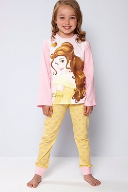 Girls Personalised Belle Pyjamas