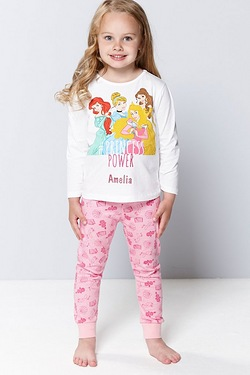 Girls Personalised Disney Princess Power Pyjamas