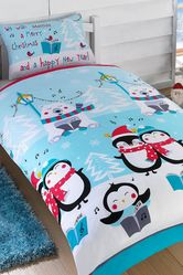 Personalised Christmas Sing Along Duvet Set - Double