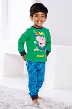 Boys Personalised George Pig Pyjamas