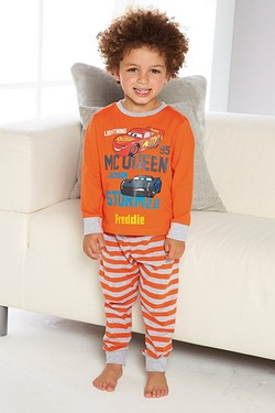 Boys Personalised Cars Pyjamas