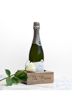 Personalised Solid Oak Champagne Ho...