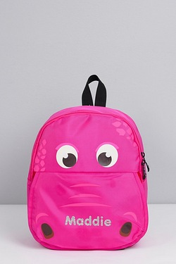Personalised Hippo Backpack - Pink