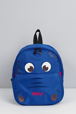 Personalised Hippo Backpack - Blue
