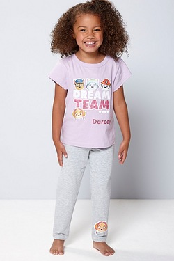 Girls Personalised Paw Patrol Pyjamas