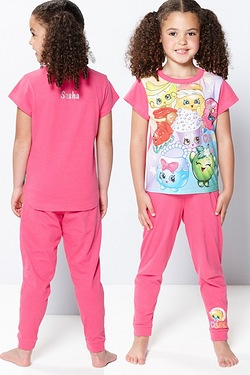 Girls Personalised Shopkins Pyjamas