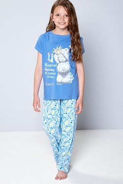 Girls Personalised Tatty Teddy Pyjamas