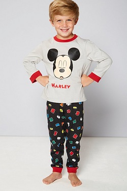 Boys Personalised Mickey Alphabet P...