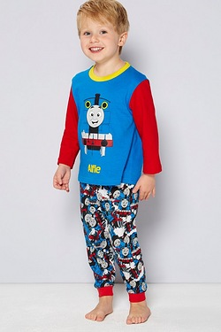 Boys Personalised Thomas Tank Pyjamas