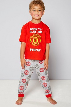 Boys Personalised Pyjamas - Manches...