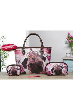 3-Piece Pug Bag Set and Personalise...