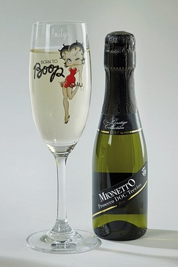 Betty Boop - Personalised Prosecco Set