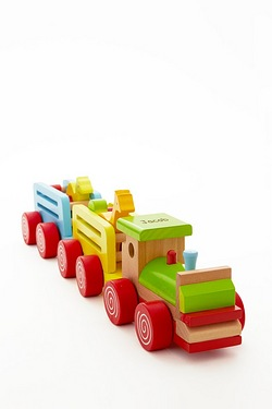 Wooden Push Along Block Train