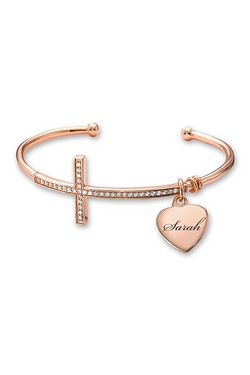 Personalised Cross Bangle