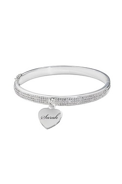 Personalised Bangle With Cz