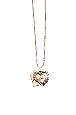 Personalised Rose Gold Double Heart...