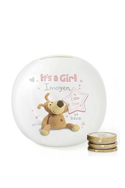 Personalised Boofle Its a Girl Mone...