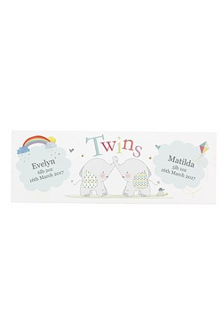 Personalised Hessian Elephant Twins...