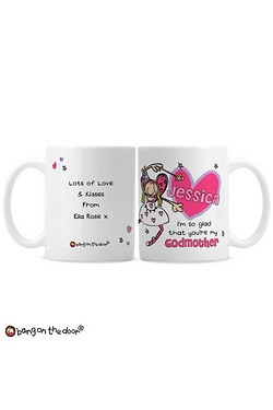 Personalised Bang On The Door Godmother Mug