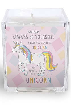 Always Be A Unicorn Square Scented ...