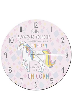 Always Be A Unicorn Clock
