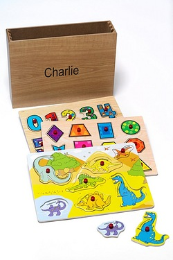 Personalised Wooden Puzzles - Dino