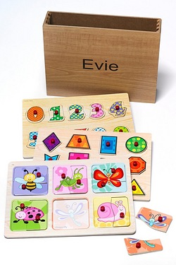 Personalised Wooden Puzzles - Garden