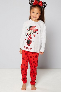 Girls Personalised Minnie Pyjama