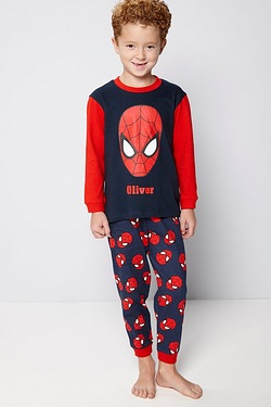 Boys Personalised Spiderman Pyjamas