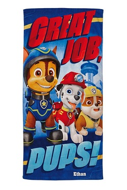 Personalised Towel - Paw Patrol Pups