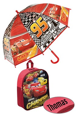 Personalised Backpack Set - Cars
