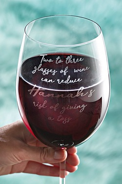 Personalised Giant Wine Glass - Giv...