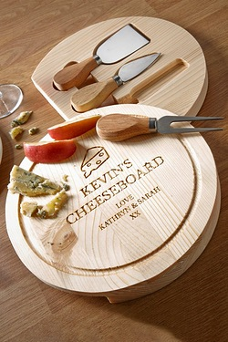 Personalised Cheeseboard With Tools