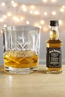 Image of Personalised Cut Crystal Whisky Glass - Jack Daniels