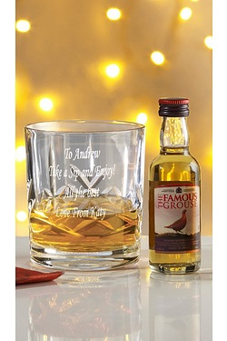 Personalised Cut Crystal Whisky Gla...