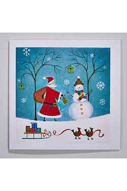 Personalised Santa and Snowman Cards