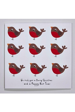 Personalised Red Robins Cards