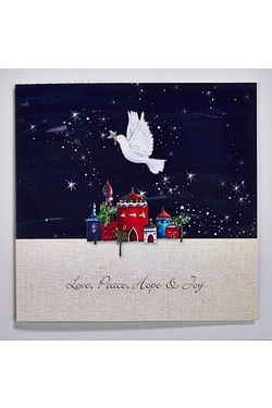 Personalised Festive Dove Cards