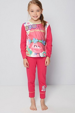 Girls Personalised Trolls Pyjama
