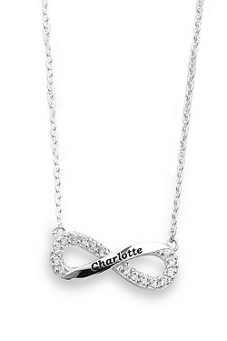 Sterling Silver Personalised CZ Inf...